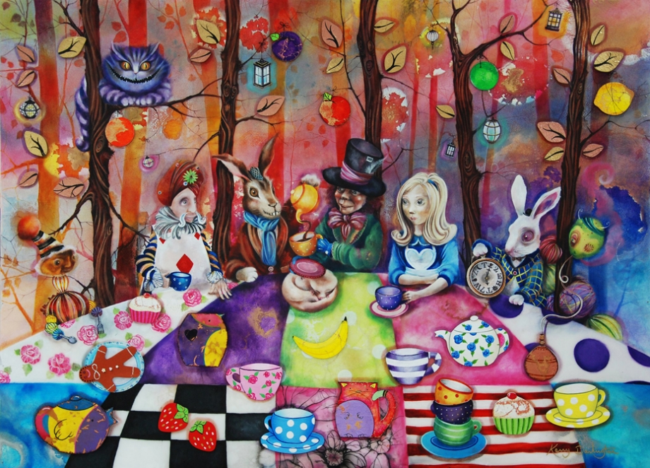 Mad Hatters Tea Party By Kerry Darlington Rennies Gallery