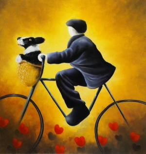 Bicycle Made For Two by Mackenzie Thorpe