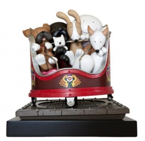 Fancy A Spin sculpture by Doug Hyde