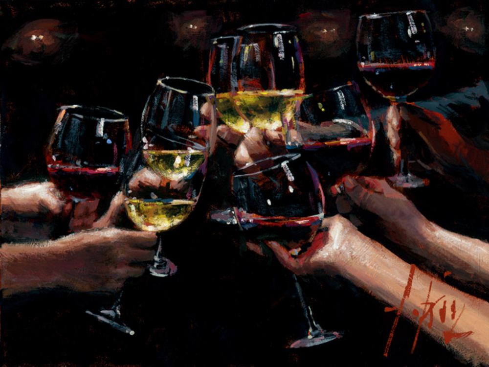 For a Better Life VIII White and Red by Fabian Perez