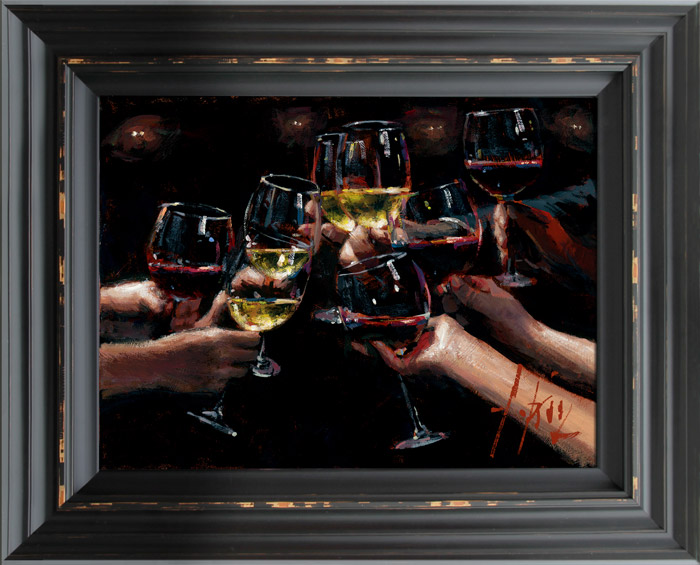 For a Better Life VIII White and Red framed by Fabian Perez