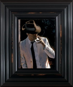 Marcus With Hat and Cigarette framed by Fabian Perez