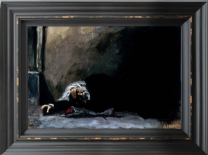 Waiting For The Romance To Come Back II framed by Fabian Perez
