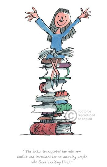 Books Transported Her To New Worlds by Quentin Blake