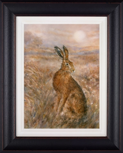 Moonlit Hare framed by Gary Benfield