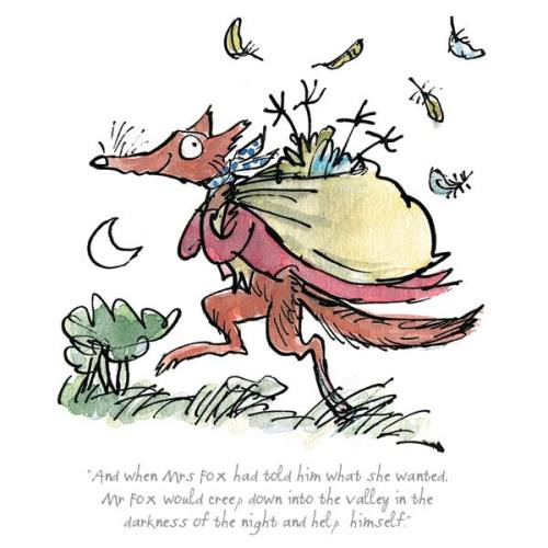Mr Fox Would Creep Into The Valley by Quentin Blake
