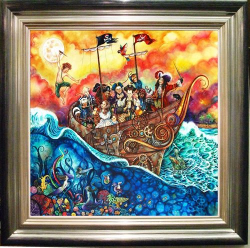 Pirate ship framed