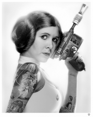 Princess Leia bw