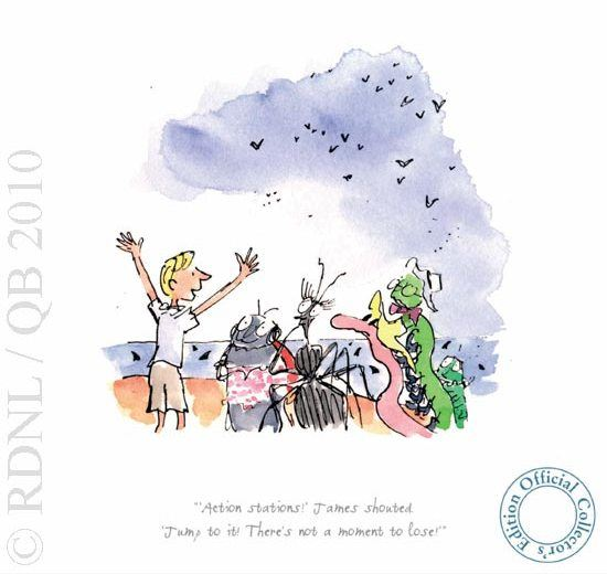 Action Stations! James Shouted by Quentin Blake
