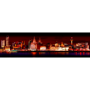 Liverpool Skyline at Night warm
