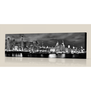 Liverpool Skyline bw