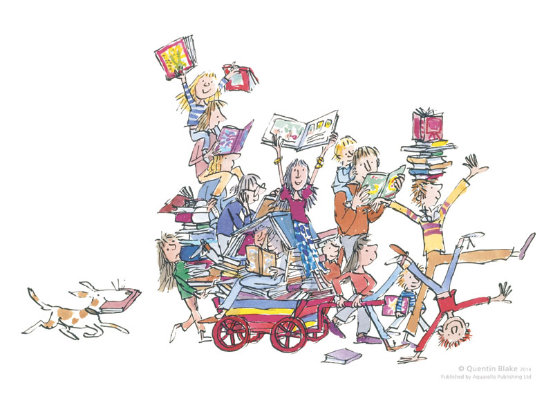The Book Cart By Quentin Blake Rennies Gallery