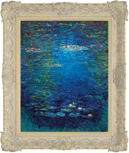 nympea in the style of claude monet