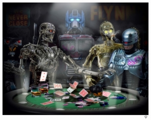 Androids playing Poker