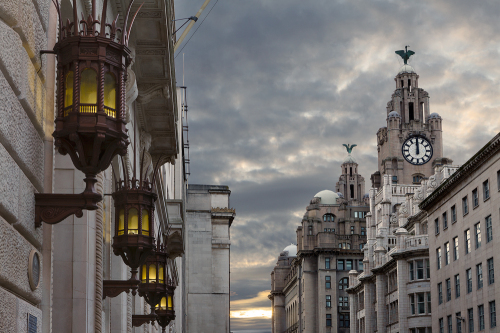 India & The Royal Liver Buildings lge