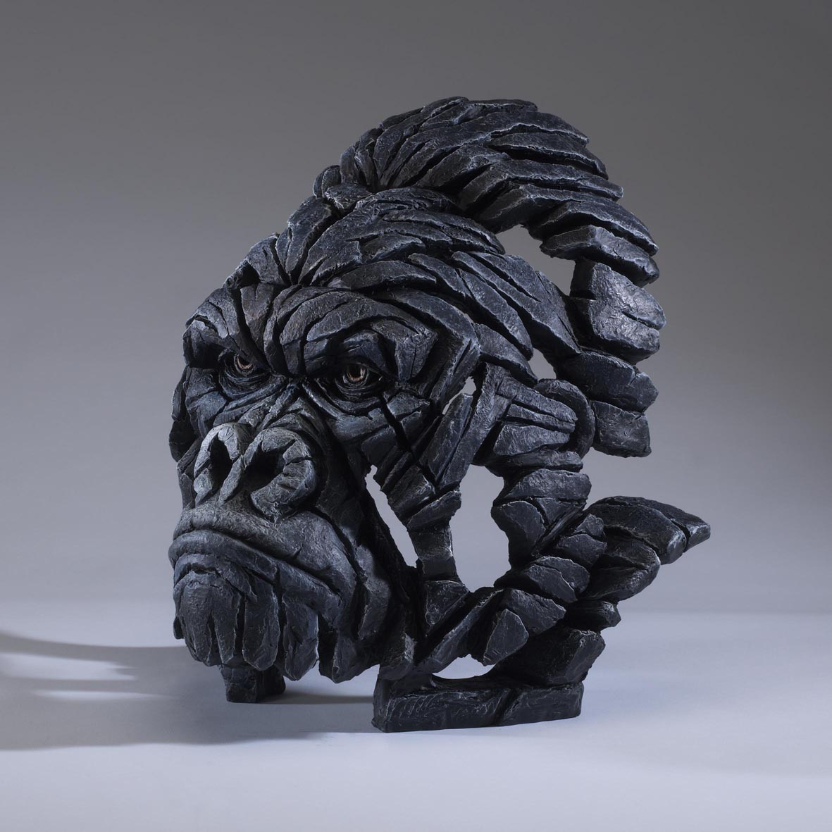 Gorilla bust by matt buckley of edge sculptures rennies