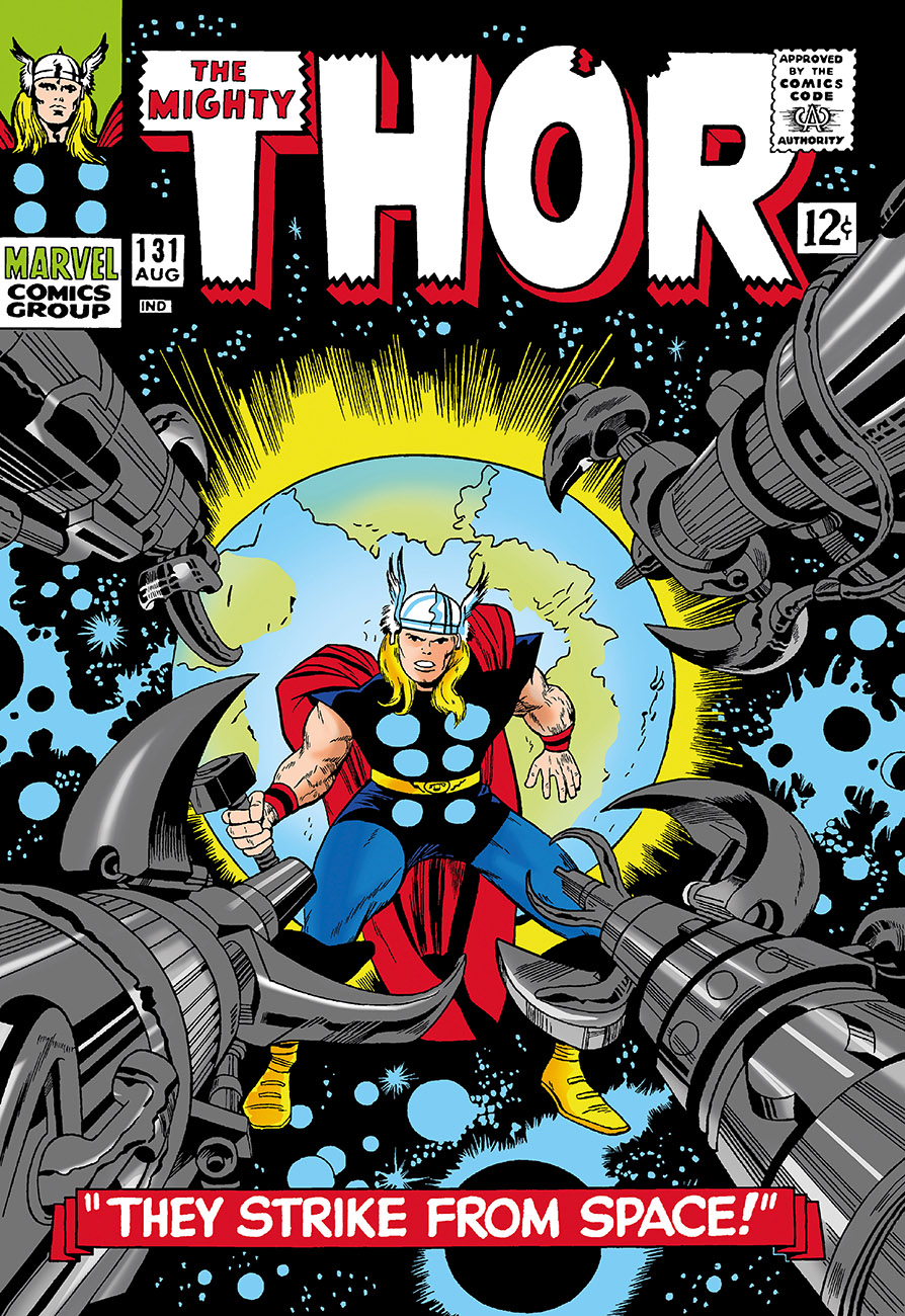 The Mighty Thor #131 - They Strike From Space! (box canvas)