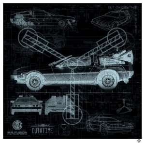 """Great Scott"" Delorian X-Ray by JJ Adams"