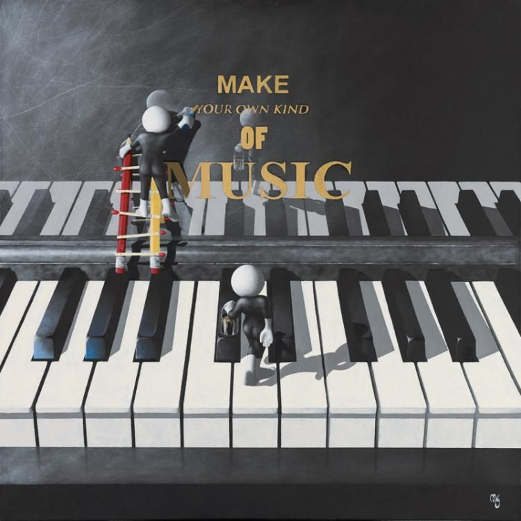 Make Your Own Music (Canvas Board)