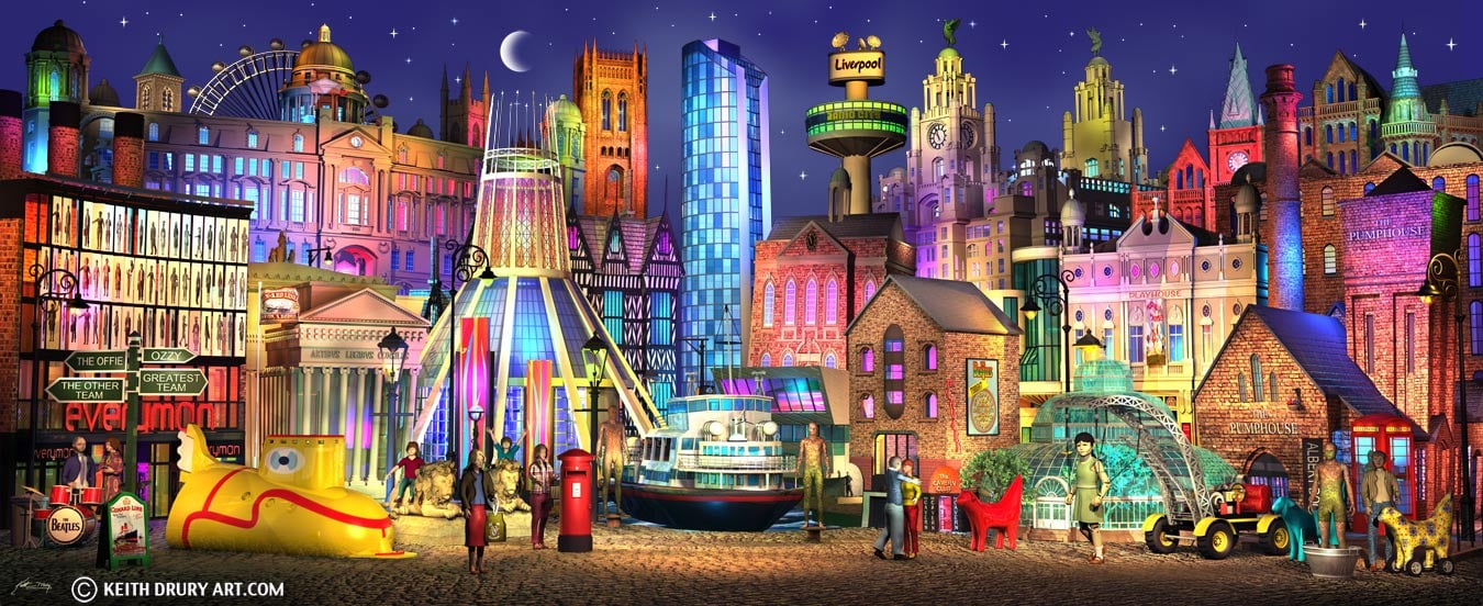 Liverpool Boulevard (canvas) by Keith Drury