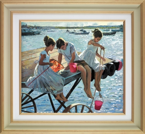 The Perfect Summer's Day deluxe by Sherree Valentine Daines (framed)