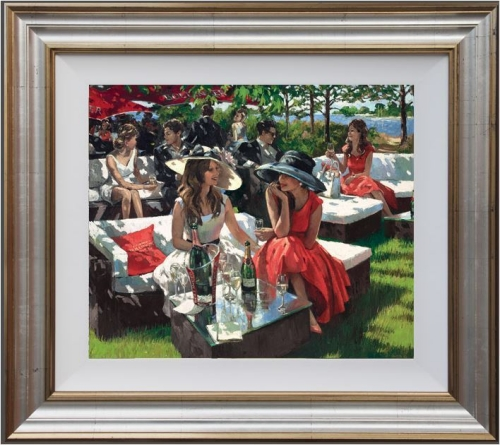 Champagne Bollinger Afternoon by Sherree Valentine Daines (framed)