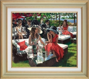 Champagne Bollinger Afternoon (Deluxe) by Sherree Valentine Daines (framed)