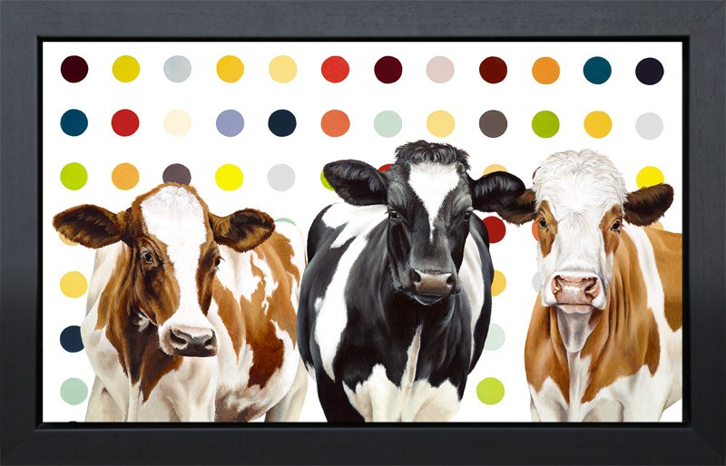 Damien's Herd (framed) by Hayley Goodhead