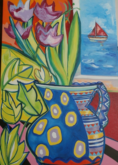 Red Sails and Tulips