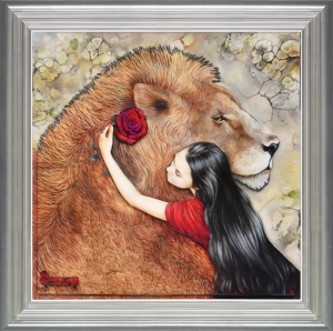 Beauty and the Beast framed by Kerry Darlington