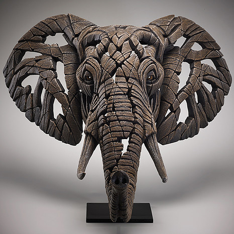 African Elephant Bust by Matt Buckley of Edge Sculptures