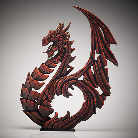 Heraldic Dragon Red Edge Sculpture