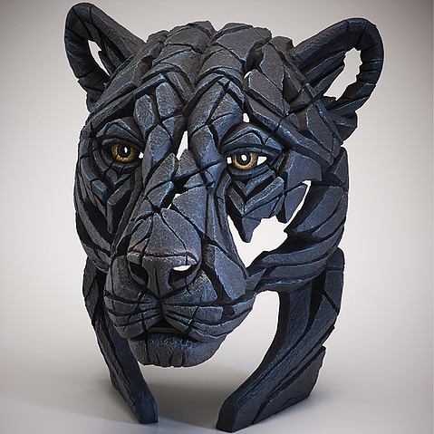 Panther Bust Edge Sculpture 1