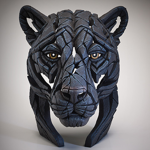 Panther Bust by Matt Buckley Edge Sculpture
