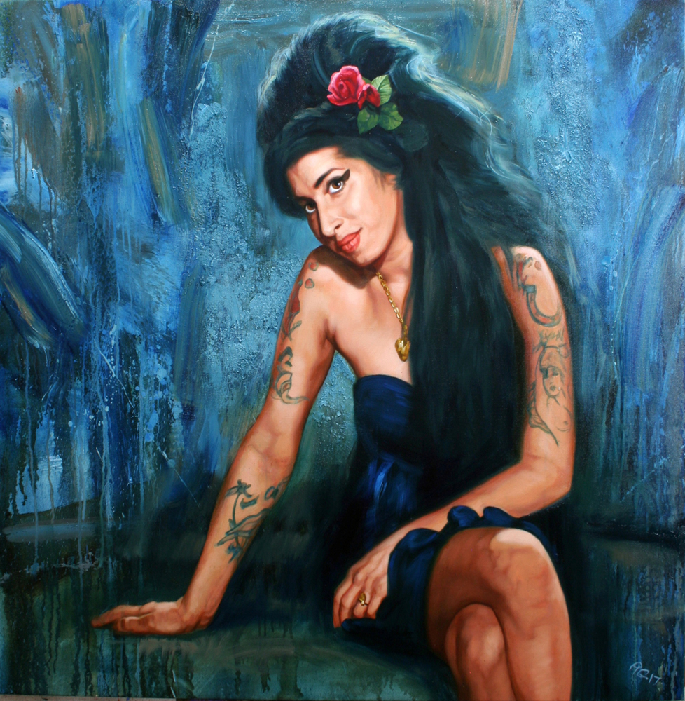 Amy Winehouse Soul Rose by Bob Goldsborough