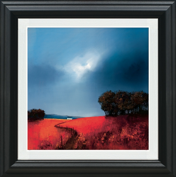 Crimson Fields Of Home framed