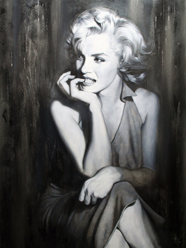 Marilyn Silver Screen oil 40x30ins web