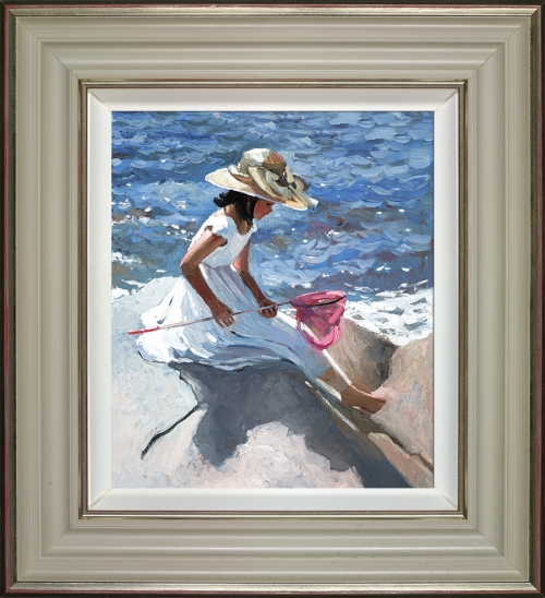 Sitting on the Rocks (framed) by Sherree Valentine Daines
