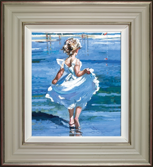 Walking in the Shallows (framed) by Sherree Valentine Daines