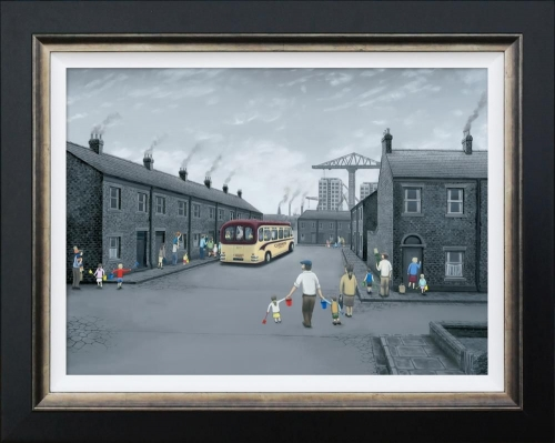 All Aboard For The Seaside (Canvas) by Leigh Lambert