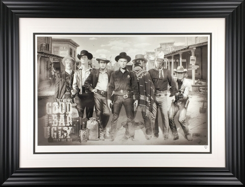 The good the bad and the ugly (framed) by JJ Adams