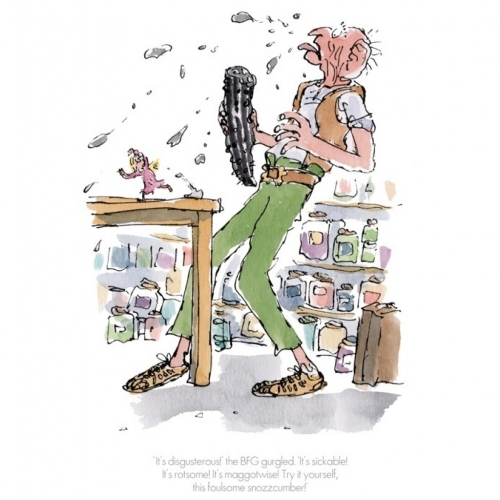 """It's Disgusterous"" the BFG Gurgled by Quentin Blake"