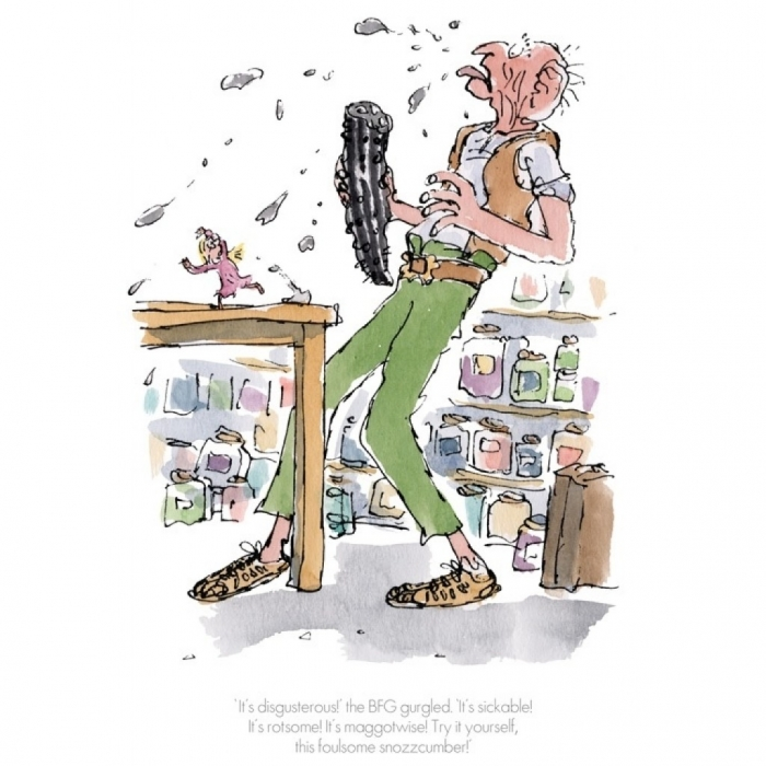 """""""It's Disgusterous"""" the BFG Gurgled by Quentin Blake"""