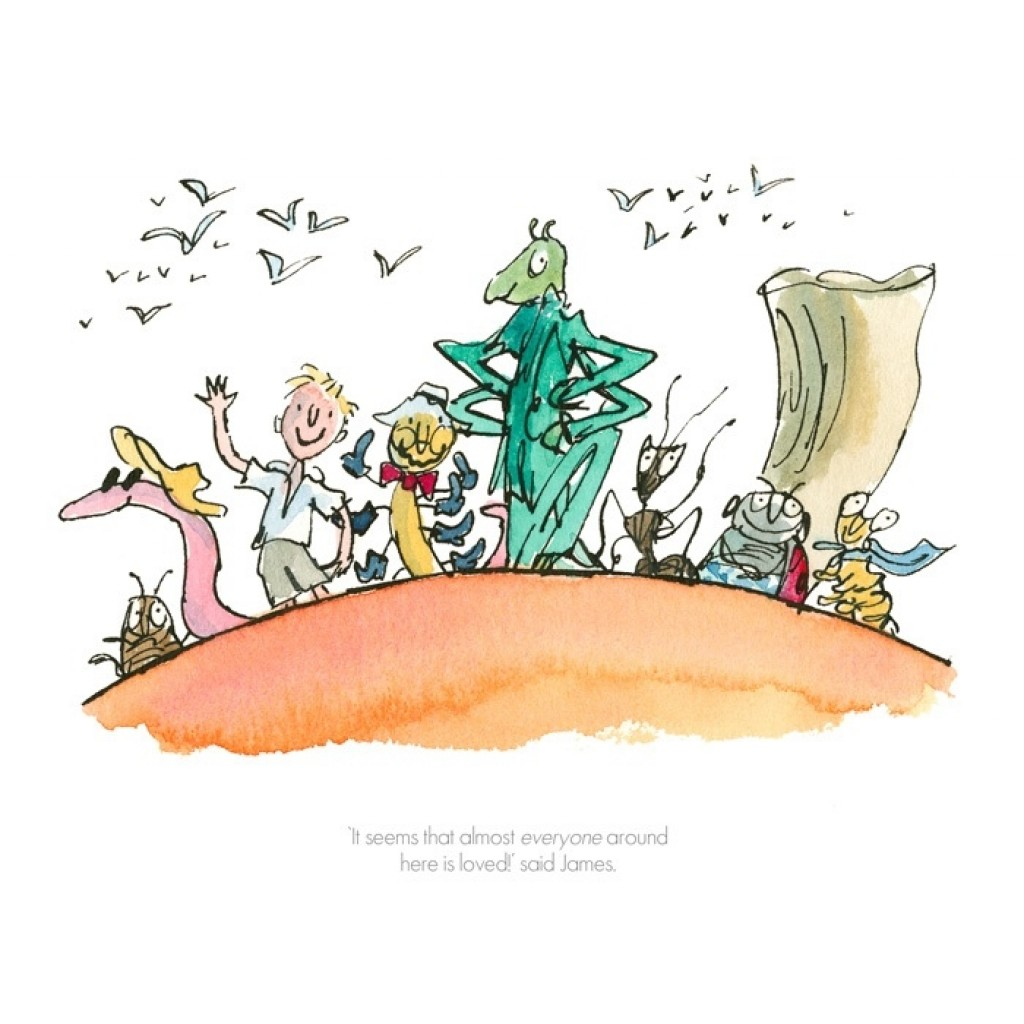 """It Seems That Everyone Around Here Is Loved"" by Quentin Blake"
