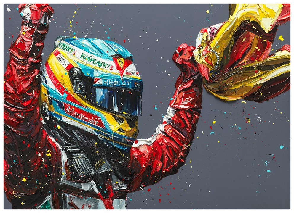 Alonso - Spain 2013 (paper) by Paul Oz