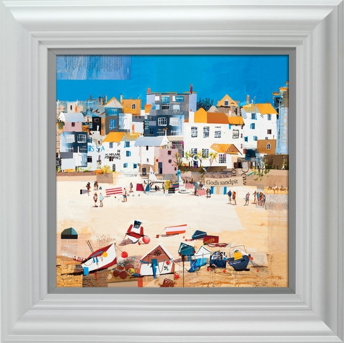 Castles, St Ives Beach framed by Tom Butler