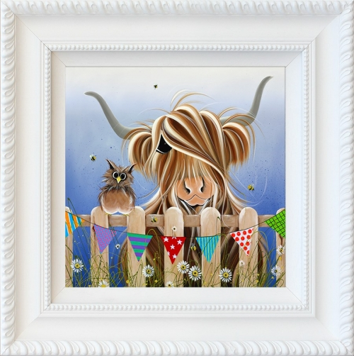 McOwl and Moo by Jennifer Hogwood framed