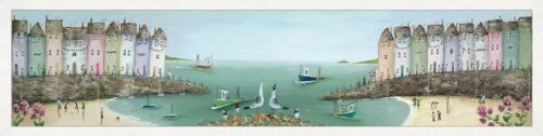Collecting Shells by Rebecca Lardner framed