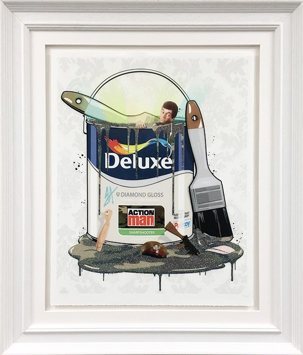 Deluxe Paint Can Action Man framed