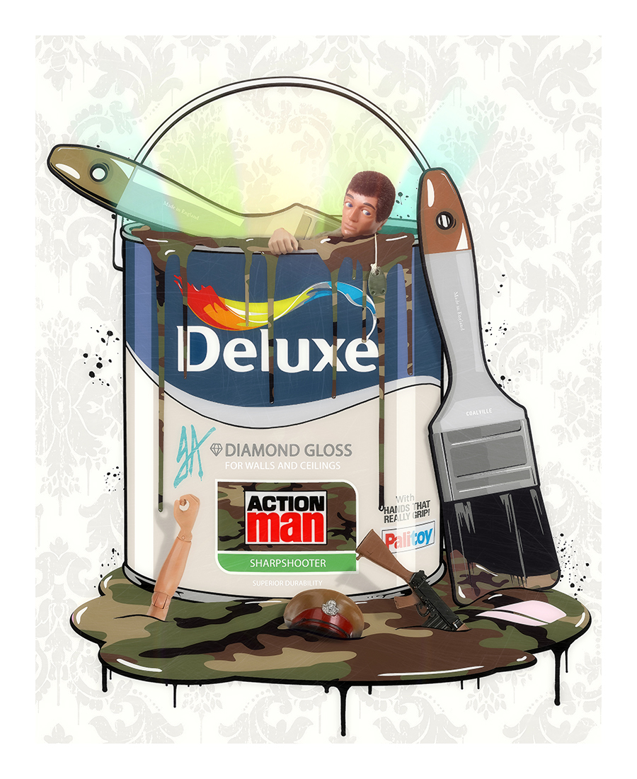 Deluxe Paint Can Action Man